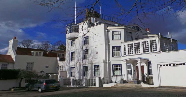 Admiral's House in Hampstead.