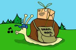 Snail mail with letters