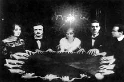 A group at a seance.